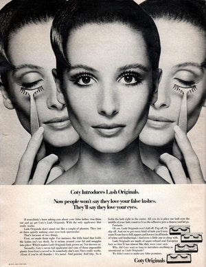 How To Apply Vintage False Eyelashes From 1970 750x970