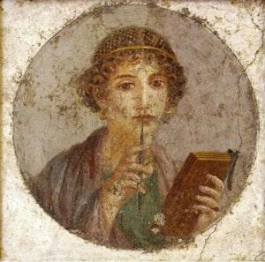 Portrait Of Sappho From Pompeii