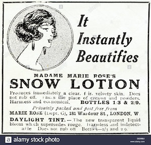 Original 1920s Advertisement Advertising Madame Marie Roses Snow Lotion Dem8bj