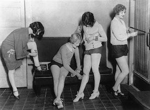 Women Shaving 1920s